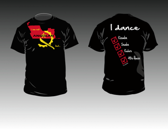 Kizomba-MaNi I am not Angolan T-shirt black