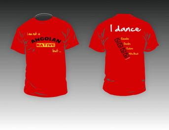 Kizomba-MaNi I am Angolan T-shirt color red