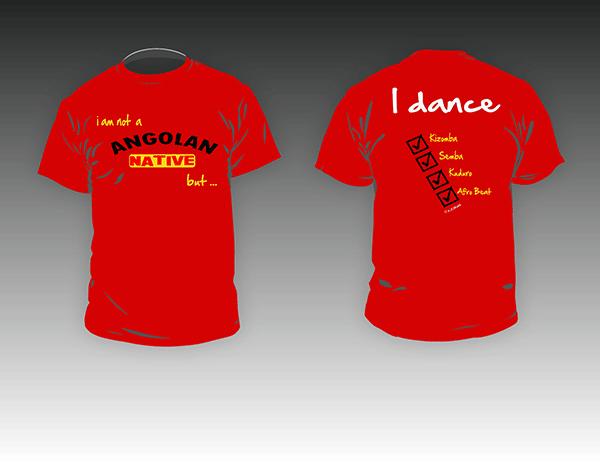 Kizomba-MaNi I am Angolan T-shirt rood
