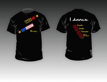 Kizomba MaNi T-shirt color black 'Who Cares'